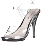 Transparent 12,5 cm POISE-508 high heeled sandals