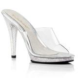 Transparent 12 cm FLAIR-401MG High Women Mules Shoes for Men