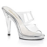 Transparent 12 cm FLAIR-402 High Women Mules Shoes for Men