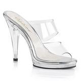 Transparent 12 cm FLAIR-402 Mules Damen Schuhe für Herren
