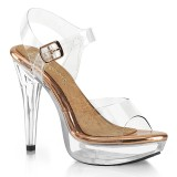 Transparent 13 cm COCKTAIL-508 fabulicious posing high heels schuhe