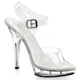 Transparent 13 cm LIP-108 Plateau High Heel Schuhe