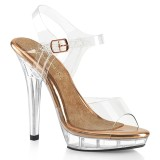 Transparent 13 cm LIP-108 fabulicious posing high heels schuhe