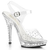 Transparent 13 cm LIP-108RS fabulicious posing high heels schuhe
