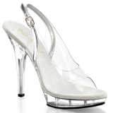Transparent 13 cm LIP-150 Plateau High Heel Schuhe