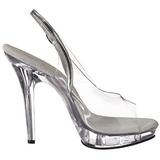 Transparent 13 cm LIP-150 Plateau High Heel Schuhe