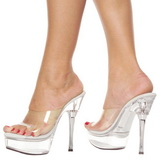 Transparent 14 cm Pleaser ALLURE-601 Plateau Mules High Heels