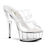 Transparent 15,5 cm Pleaser DELIGHT-602 Plateau Mules Schuhe