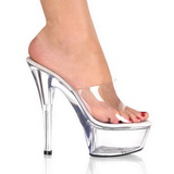 Transparent 15 cm KISS-201 Plateau High Mules