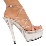 Transparent 15 cm KISS-206 Platform High Heel Schuhe