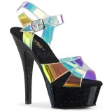Transparent 15 cm KISS-220MMR Sandaletten mit high heels