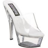 Transparent 15 cm PRINCESS-201 Platform Mules Shoes
