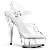 Transparent 15 cm Pleaser DELIGHT-608 Plateau High Heels