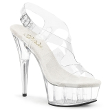 Transparent 15 cm Pleaser DELIGHT-630 Plateau High Heels