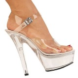 Transparent 15 cm Pleaser KISS-208 High Heels Plateauschuhe