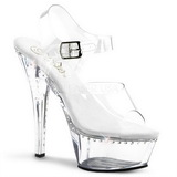 Transparent 15 cm Pleaser KISS-208LS Plateau High Heels