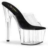 Transparent 18 cm ADORE-701 Exotic stripper high heel mules