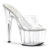 Transparent 18 cm ADORE-701 Platform Mules Shoes