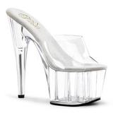Transparent 18 cm ADORE-701 Platform Mules Shoes