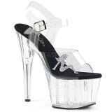 Transparent 18 cm ADORE-708RSTG Sandaletten mit high heels