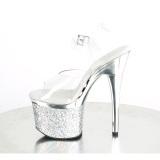 Transparent 18 cm ESTEEM-708CHLG exotic pole dance high heels silber