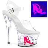 Transparent 18 cm MOON-708CAT Plateau High Heels