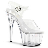 Transparent 18 cm Pleaser ADORE-708LS Plateau High Heels