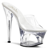 Transparent 18 cm Pleaser MOON-701 Platform High Mules