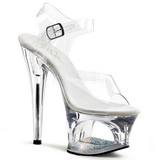Transparent 18 cm Pleaser MOON-708DM Plateau High Heels