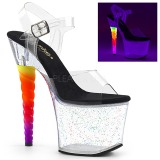Transparent 18 cm UNICORN-708MG pole dance high heels schuhe