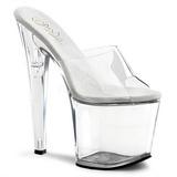 Transparent 19 cm TABOO-701 Damen Mules Schuhe