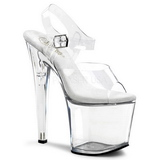 Transparent 19 cm TABOO-708 Plateau High Heels