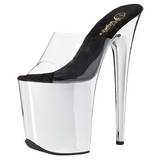 Transparent 20 cm FLAMINGO-801 Chrome Platform High Heel Mules