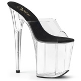 Transparent 20 cm FLAMINGO-801 Exotic stripper high heel mules