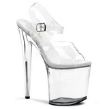 Transparent 20 cm FLAMINGO-808 Acryl Plateau High Heels