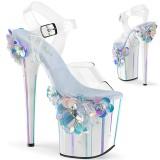 Transparent 20 cm Pleaser FLAMINGO-808SQFL pole dance high heels schuhe