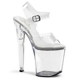 Transparent 20 cm XTREME-808 Acryl Plateau High Heels