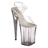 Transparent 23 cm Pleaser INFINITY-908 Plateau High Heels