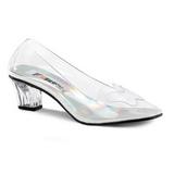 Transparent 5 cm CRYSTAL-103 Pumps Abend Schuhe mit Absatz