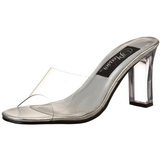 Transparent 8,5 cm ROMANCE-301 Damen Mules Schuhe