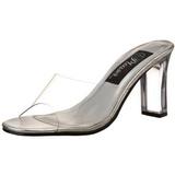 Transparent 8,5 cm ROMANCE-301 Plateau Women Mules Shoes