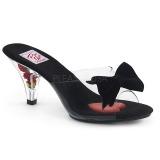 Transparent 8 cm BELLE-301BOW Damen Mules Schuhe