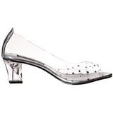 Transparent Crystal 5 cm CRYSTAL-100 High Heeled Evening Pumps Shoes