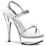 Transparent Strass 15 cm DIAMOND-639 Plateau High Heel Schuhe