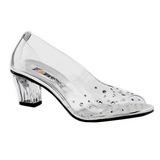 Transparent Strass 5 cm CRYSTAL-100 Pumps Abend Schuhe mit Absatz