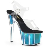 Türkis 18 cm ADORE-708HGI Hologramm plateau high heels
