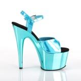 Türkis 18 cm ADORE-709HGCH Hologramm plateau high heels