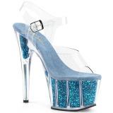 Türkis glitter 18 cm Pleaser ADORE-708G pole dance high heels schuhe