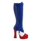 USA Pattern 13 cm ELECTRA-2030 High Heeled Lace Up Boots