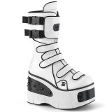 Vegan 11,5 cm KERA-108 demonia alternative boots platform white